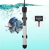 FREESEA Aquarium Fish Tank Heater: 100 Watt Adjustable Thermostat with 2 Suction Cups & Thermometer for BettaTank| SaltwaterTank | Aquarium | CoralTank