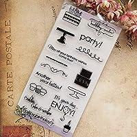 卸売透明クリアスタンプパーティーケーキボトルシリコーンシールローラースタンプdiyスクラップブッキングフォトアルバム/カード作成
