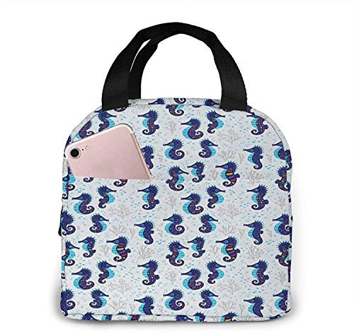 Bolsa de almuerzo con aislamiento Bolsa fresca para cajas de almuerzo Bolso de picnic plegable de tela impermeable para mujeres adultos hombres chico pájaro animal 35-15