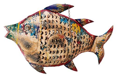 Ziegler Fisch Windlicht Laterne Gartendeko Figur Dekofigur Metall 78 cm 204817
