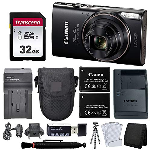 Canon PowerShot ELPH 360 HS Digital Camera + Top Value Accessories!