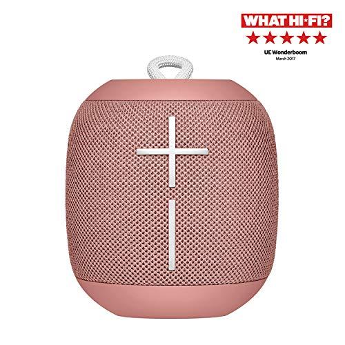 Ultimate Ears Wonderboom Tragbarer Bluetooth-Lautsprecher, Überraschend Starker Sound, Wasserdicht, Verbinde 2 Lautsprecher für Lautstarken Hi-Fi Sound, 10-Stunden Akkulaufzeit - cashmere pink