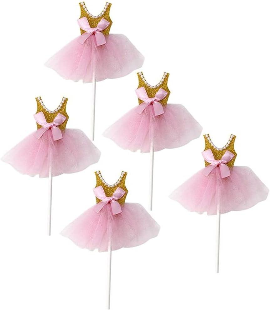 ZTTZX 10pcs Topper Sales for sale Decor Max 59% OFF Glitter Dress Cake Toppe Princess Tutus