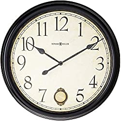 Howard Miller Glenwood Falls Gallery Wall Clock 625-444 – Oversized Black Satin with Quartz Movement