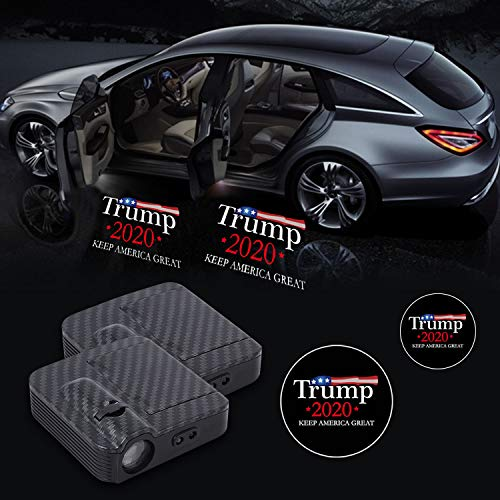 For Trump 2020 Keep America Great Car Door lights,2 PCS New Upgraded Sonar Led Welcome Car Door Projector for all Vehicle