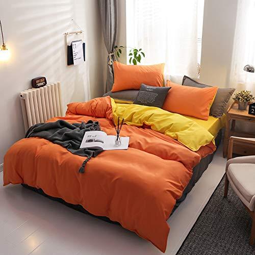 DMCE Mit Kissenbezügen Bettlaken,Atmungsaktiv Komfortabel Bettwäscheset Bettbezug,Sanft Reversible Bettbezug Set
