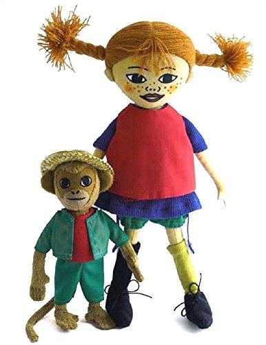 Pipi Pippi Langstrumpf und Herr Nilsson Äffchen Puppe aus Stoff Setangebot