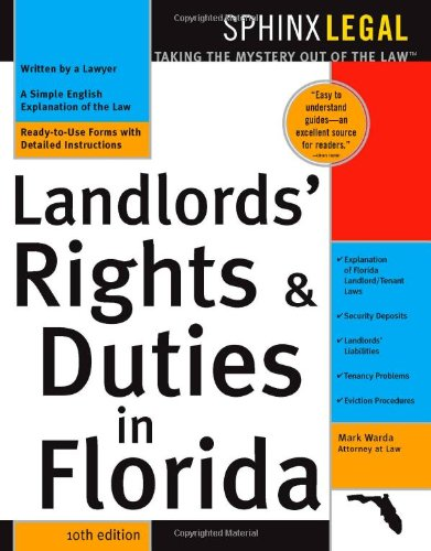 Compare Textbook Prices for Landlord's Rights & Duties In Florida, 10E 10 Edition ISBN 0760789209932 by Warda, Mark