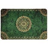 deco-mat Fußmatte Orient (40 x 60 cm, Grün) • rutschfeste und waschbare Fußmatte für außen/innen • saugstarke Schmutzfangmatte für Innen-/Außenbereich in orientalischem Design