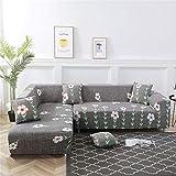 DSDD Fundas de sofá en Forma de L Funda de sofá de Ajuste elástico Fundas de sofá seccionales Fundas de sofá Resistentes a Las Manchas Antiarrugas 1 Pieza Protector de Funda de sofá para sofá de