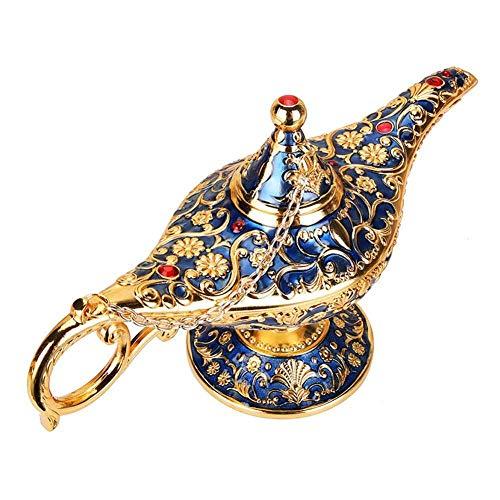 LGYLucky Aladdin Aladdin lampara magica Tradicional Deseando socavar Retro Tetera Genie lampara Accesorios Decorativos para el hogar