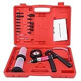 AMK Bomba de vacío Handheld Tester Set, corrimiento del Freno Prueba Purga Fluido Sistema Herramienta con adaptadores Accesorios del Coche para Automoción indicador vacío y el Kit extracción Frenos