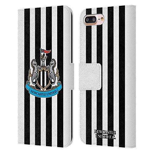 Head Case Designs Oficial Newcastle United FC NUFC Casa 2020/21 Kit de Cresta Carcasa de Cuero Tipo Libro Compatible con Apple iPhone 7 Plus/iPhone 8 Plus