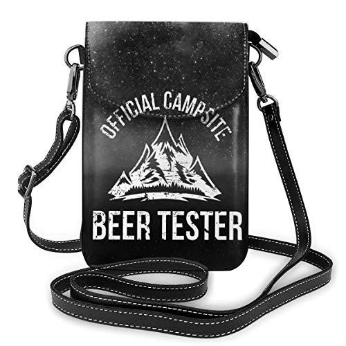 Campingplatz Bier Tester Leder Handy Geldbörse Halter Brieftasche Functional Multi Poet für Frauen