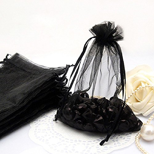 Nvfshreu Fashion Style 100 stuks Sheer Organza Bruiloft Party Gevallen Candy eenvoudige stijl Pouch Tassen 12 * 16cm appelgroen