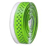 Velo - Cinta de manillar pu agujereada, color verde / blanco