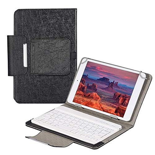 SsHhUu Keyboard Case for Galaxy TAB 3 7.0 GT-P3200 GT-P3210 SM-T210 SM-T211, 2-in-1 Slim Lightweight Leather Folio Stand Cover with Bluetooth Wireless Keyboard for Galaxy TAB 3 7.0 inch Tablet