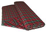 UK Fabrics Online - Tessuto tartan moderno (al metro), colore: Rosso/Verde