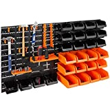 Best Choice Products 38x21.25in 44-Piece Wall Mounted Peg Board, Garage Storage Rack, Tool Organizer w/ 28 Storage Bins, 14 Accessories, 110lb Capacity
