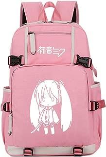 Gumstyle Hatsune Miku Luminous School Bag Backpack Shoulder Book Bags for Boys Girls Students Pink 5