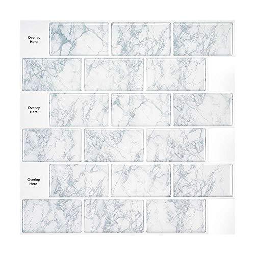 XJF Adhesivo de pared 3D autoadhesivo para decoración de baño de cocina