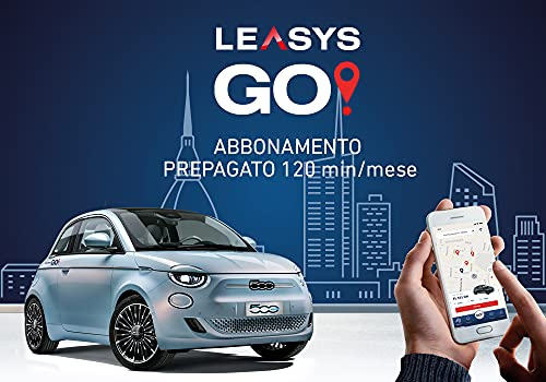 Iscrizione Abbonamento LeasysGO! Prepagato con 120 min al mese - Il nuovo CarSharing a TORINO e MILANO con Nuova FIAT 500 elettrica