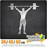 KIWISTAR - Gewichtheber Gewichtheben Heckscheibenaufkleber Carsticker Decal