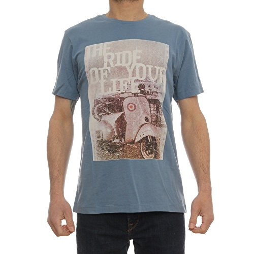 Merc Clothing Tee-Shirt Col Rond D'Inspiration Mod Avec Le Scooter Grant Dust Blue M