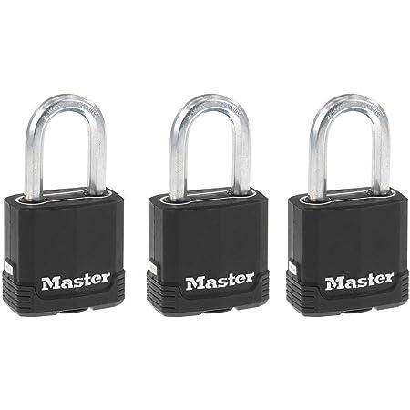 3-Pack Weatherproof Master Lock 311TRI Keyed Alike Laminated Steel Padlock