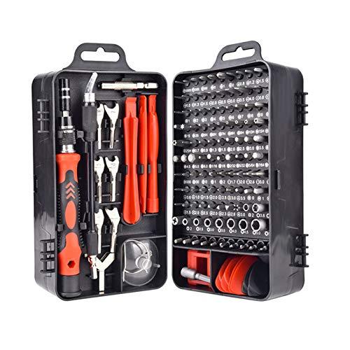 it de destornilladores Lutingstore 2020 Upgrade 135 en 1 S2 Kit de herramientas de reparación de acero, juego de destornilladores multifunción para reparar ordenadores portátiles