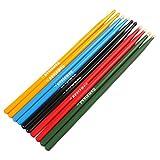 【The Best Deal】2Pcs 5A Drum Sticks, Maple Wood Tip Drumsticks, 5A Music Band Drumsticks, Jazz Drum Sticks For Rock Band (Black 2Pcs)