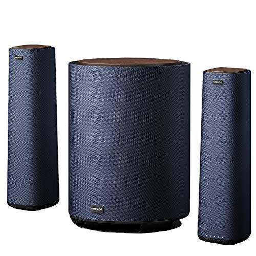 MAMBASANKE 5.1 Surround Sound System with Wired Split Speaker, Home Cinema Speaker, Deep Bass, Wireless Bluetooth, Multi Device for AUX/COX/Opt/USB/BT, UK Plug, PC/PS4/Xbox/DVD Player/TV/Smartphone