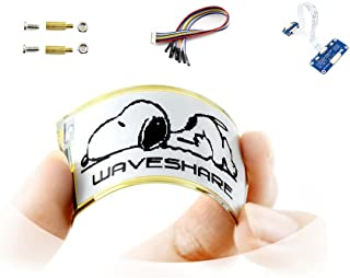 Two Color 2.13inch Flexible E-paper Display HAT Module Black/white E-ink SPI Interface Supports Partial Refresh for Raspberry Pi 2B/3B/Zero/Zero W for Curved Surface Display