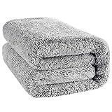 CYZB 59' x 27' Large Bamboo Bath Towel, Microfiber Bath Towel Soft Fast Drying Shower Towel, Super Absorbent & Quick-Dry Bath Shower Towel Washcloths (Gray) (Thin-Grey)