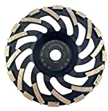 PRODIAMANT Profi Diamant-Schleiftopf Abrasiv 180 mm x 22,2 mm Diamantschleiftopf PDX82.919 180mm Estrich, Asphalt, Putz, abrasive Baustoffe passend Winkelschleifer