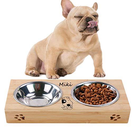 Ciotola per cani, ciotole,ciotola cocker, ciotola acciaio,personalizzazione del nome dell'animale domestico (ciotola per cani, due ciotole)