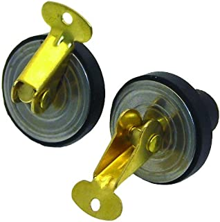 Invincible Marine 5/8-Inch Brass Snap Plug, Bailer and Baitwell Drains