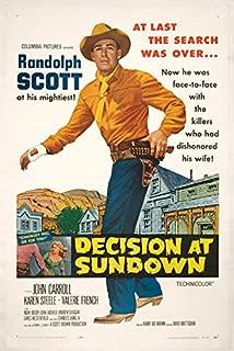 Decision at Sundown (Original Film Poster)