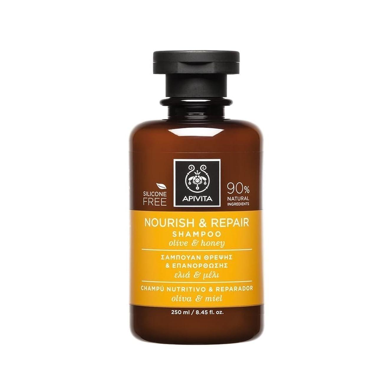 単に兵隊乗り出すアピヴィータ Nourish & Repair Shampoo with Olive & Honey (For Dry-Damaged Hair) 250ml [並行輸入品]
