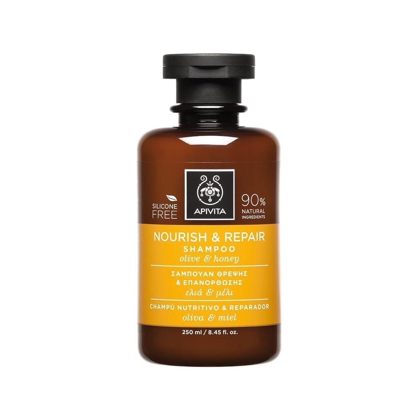 膿瘍アトミック比類なきアピヴィータ Nourish & Repair Shampoo with Olive & Honey (For Dry-Damaged Hair) 250ml [並行輸入品]