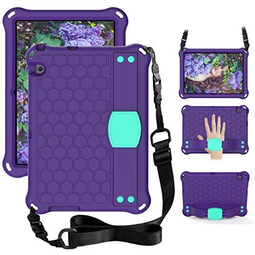 GOZOPO Funda para niños compatible con Huawei T3 10 (9.6 pulgadas) AGS-W09 AGS-L09 AGS-L03 [No para Mediapad T5] con correa para el hombro y funda protectora a prueba de golpes (púrpura)