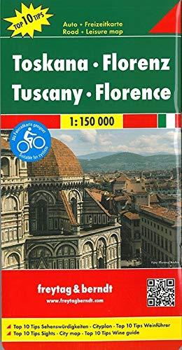 Toskana - Florenz, Autokarte 1:150.000, Top 10 Tips: Top 10 Tips Sehenswürdigkeiten. Cityplan. Top 10 Tips Weinführer. Als Fahrradkarte geeignet (freytag & berndt Auto + Freizeitkarten)