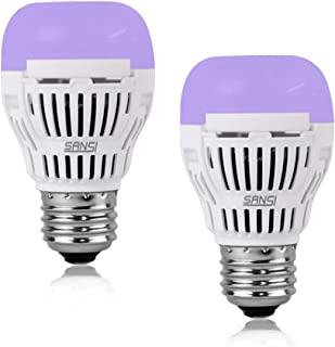 SANSI UV LED Black Light Bulb, 5W UVA Level 320-400nm, Ultra Violet LED, Glow in The Dark for Party, Body Paint, Fluorescent Poster, Neon Glow (2 Pack)
