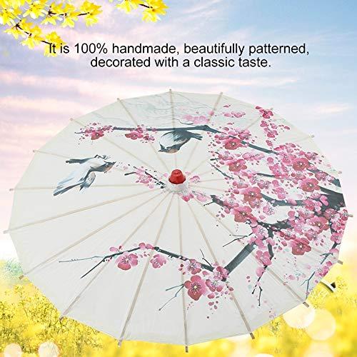 Wolfgo kleine formaat handgemaakte geolied papier paraplu Chinese kunst klassieke dans paraplu pruim bloesem