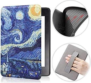 Capa Kindle Paperwhite 10ª geração à prova d'água - Função Liga/Desliga - Fechamento magnético - Silicone com Alça de Leit...