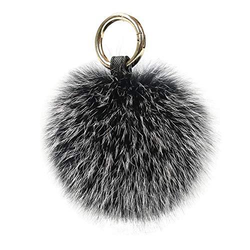 Charms Porte-clés en fourrure de renard véritable pour sac à main Décoration tendance, G