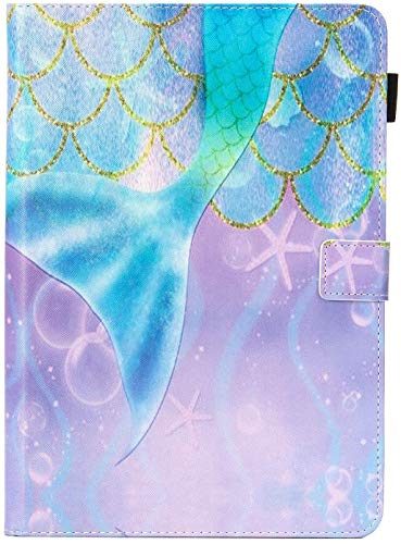 Universal 8.0 inch Tablet Case, Dteck Stand Folio Flip Wallet Case for iPad Mini 7.9'/ Galaxy Tab 8.0 /Fire HD 8/ Nextbook Tagital/Dell/HP/LG G Pad and More All 7.5-8.5 inch, Mermaid