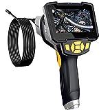 1080P HD Endoscope Numérique avec 4,3 Pouces Ecran LCD Caméra d'inspection Tube Endoscopique IP67 Etanche 8 Niveaux de Luminosité LED Diamètre de Caméra 8 mm d'arpentage d'inspection,10M