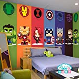 3d Captain America Avengers Garçons Chambre Photo Fonds D'écran Marvel Comics Kids Chambre...
