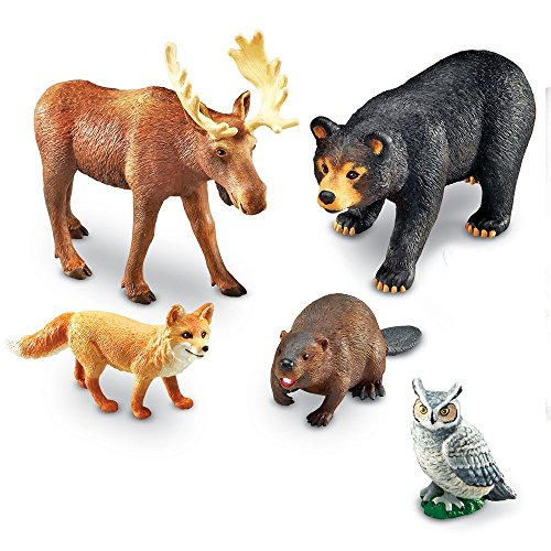 Learning Resources- Animales Jumbo del Bosque, Color (LER078
